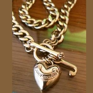 """Juicy Couture Puffed Heart """"J"""" Charm Necklace"""